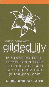 Gilded Lilly business card
